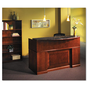 mayline sorrento series reception desk counter with granite top mlnsrcmscr shoplet
