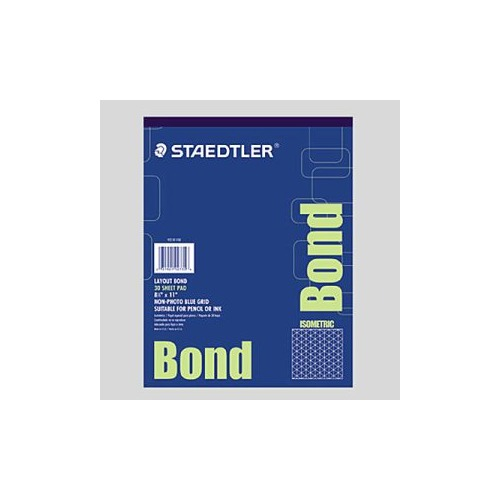 Staedtler non photo blue iso grid layout bond paper Blue bond paper