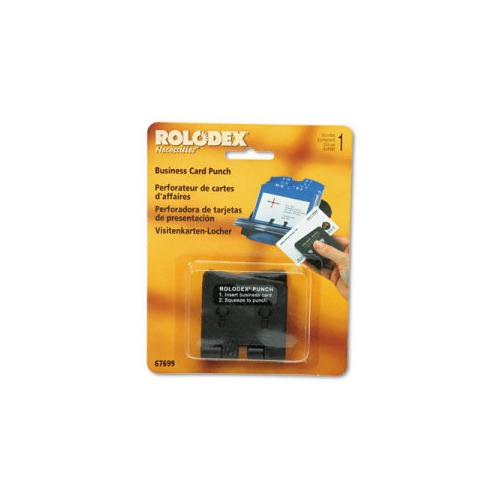 Rolodex e Sheet Business Card 2 Hole Punch for 2 1 4 x 4