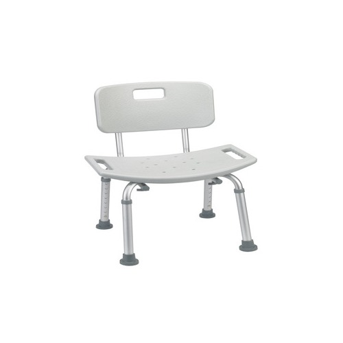 Drive medical bathroom safety shower tub bench chair with back gray rtl12202kdr for Drive medical bathroom safety shower tub chair