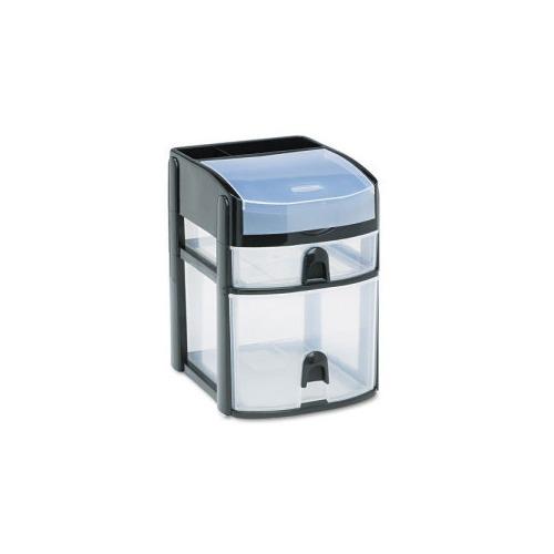 Rubbermaid Mini 2 Drawer W Flip Lid Rubfg9a5700bla