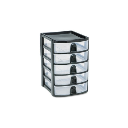 Rubbermaid Mini 5 Drawer Tower Rubfg9a6200bla Shoplet Com