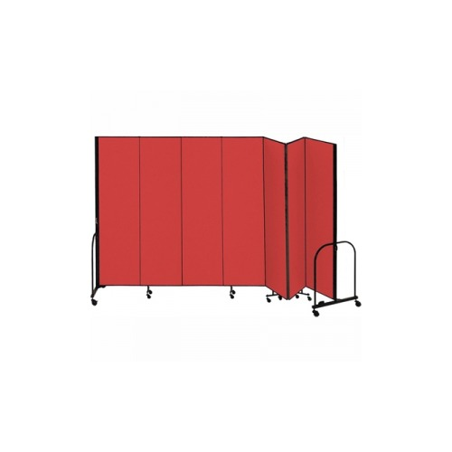 Screenflex freestanding portable room divider scxcfsl687dr - Collapsible room divider ...