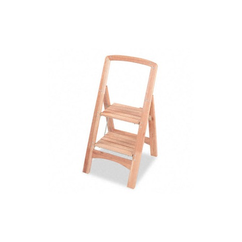 Cosco Two Step Wood Folding Step Stool Smf11254nat1