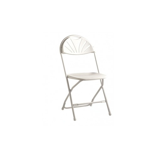Samsonite 2000 Series Injection Molded Fanback Folding Chair SST