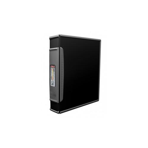 Storex Duragrip 1.5 Inch O Ring Binder, Hard Poly, Black