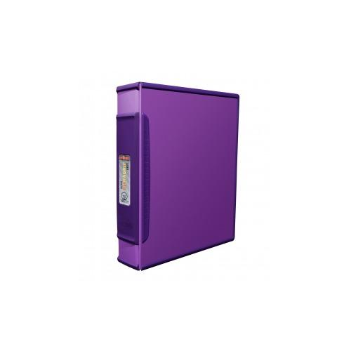 Storex Duragrip 1.5 Inch O Ring Binder, Hard Poly, Purple