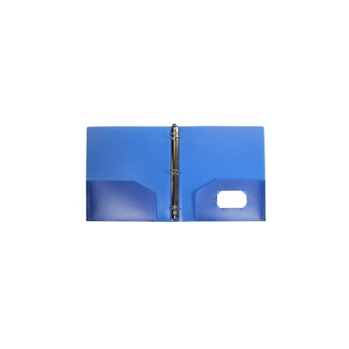 Storex 1.5-Inch Poly Binder With Pockets, Blue