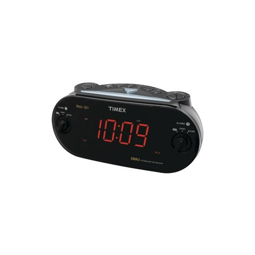 timex t715bw3 dual alarm clock radio tmxt715b. Black Bedroom Furniture Sets. Home Design Ideas